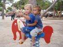 NiDaPlayground 2: Nicky and Dante on a playground in Ciutadella