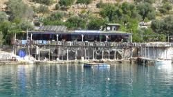 The restauranr at Karacaoren bay