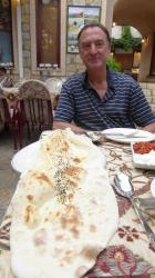 Massive flat bread at Kas