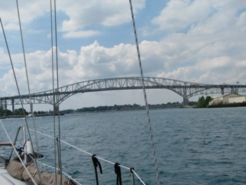 Bridge entering St. Clair River