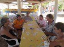 Mexican train dominos on the beach or as locals call the game Dominos Cubano (Cuban Dominos....:)