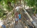 I was taken to this bamboo bridge- the kids were very proud of this new construction over the water.