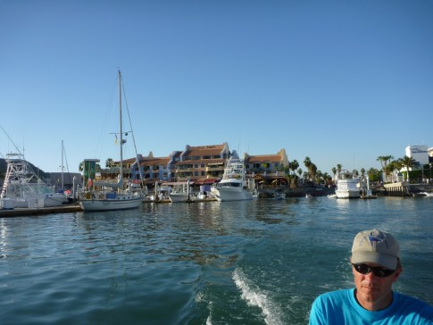 inner harbour of Cabo, steady stream of fish boats in and out