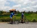 Steve and Michael rented bikes and went for a ride through the rice paddies