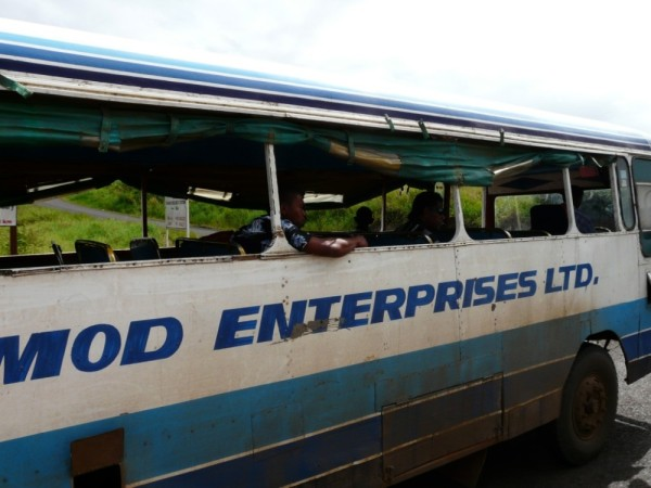 We passed this bus on our way to Labasa!