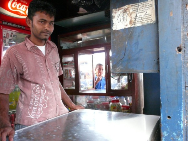 Canteen owner-most businesses in Fiji are owned and operated by Fijian Indians who came from India initially to work in the sugar cane fields.