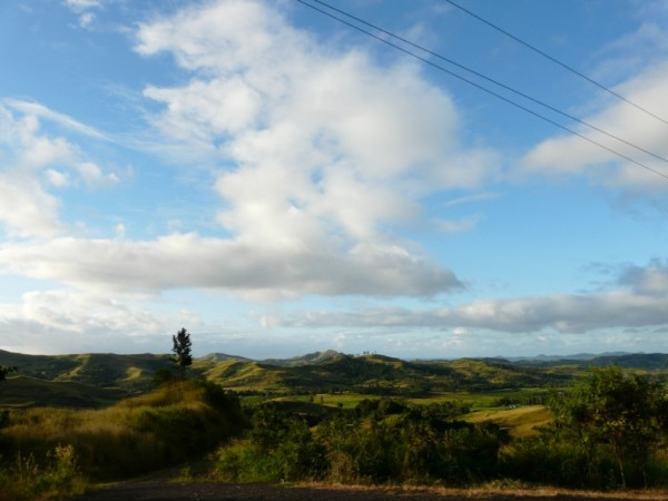 view of country side- bus trip to Labasa