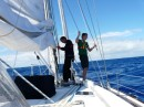 male bonding on the foredeck