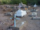 Old cemetery at Aqua Verde.  We respectfully read some of the old inscriptions, some of them back to the 1800