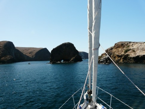 Our anchorage- Little Scorpion Bay, Santa Cruz Island