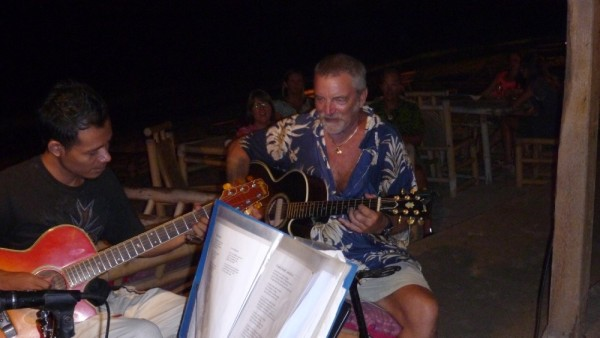 We met up with Brian on Further, he entertained us at Gili Air at a local beach bar.