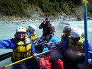 after the first splashes through the rapids
