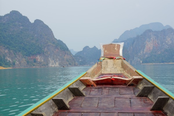 Long boat ride Chiew Larn Lake, Khao Sok national Park! Stunning isn