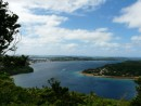 View of Neiafu harbour from hike to the top of Mt Talau, 450 feet above