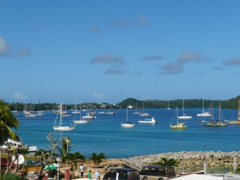 Neiafu harbour- a mix of cruisers gather here from all over the world