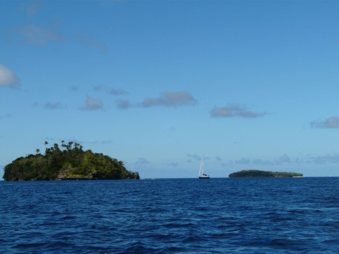 Anchored off Fonua Island