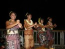 Traditional tapa dresses, beautiful Tongan girls