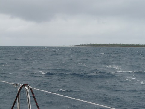 windy passage from Uiha back to Pangai