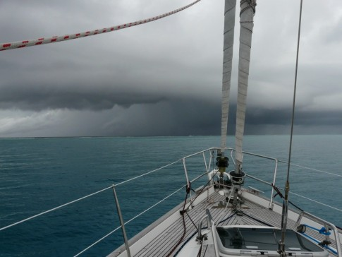 storm brewing in front of anchorage off Nomuki Iki