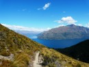 High above Queenstown, on Ben Lombard Track