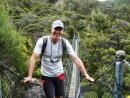 One of many suspension bridges we crossed hiking up to the top of Great Barrier Island