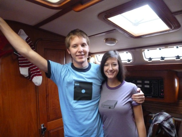 My kids! Nick and his g/f Em- notice their new shirts-his and hers!