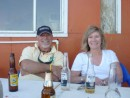Our first beer ashore at a small beachside cantina.