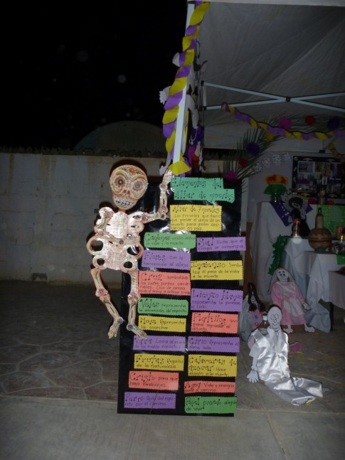 Classroom project for Dia de los muertos, presented in the town square