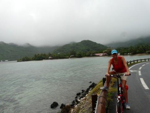 Round the island cycle trip- it poured on us!