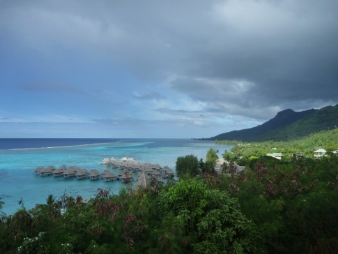 View point overlooking resort on Moorea