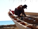 Wooden boat construction- they are still constructing these boats entirely by wood, no nails.