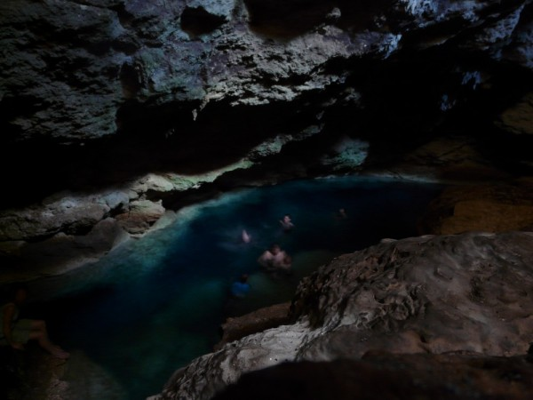 Crystal Caves are not to be missed- perfectly crystal clear water inside a cave which we all scrambled down into.