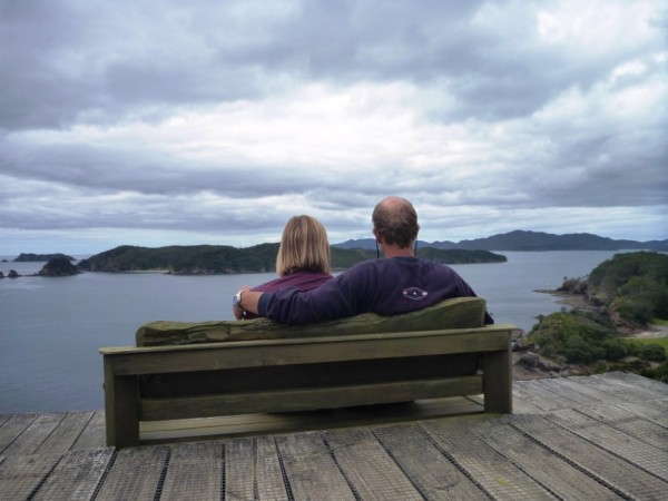 Looking out on a New Year, Robertson Island, Bay of Islands