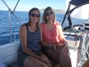 Gloria and Joanne enjoying the pleasant sail to Bahia Santa  Maria