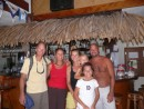 Michael and Gloria with Jessica and Teiva and their beautiful children at the Bora Bora Yacht Club