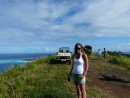Kristine and the landrover