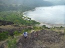 climbing up above Yalobi Bay, Waya Island