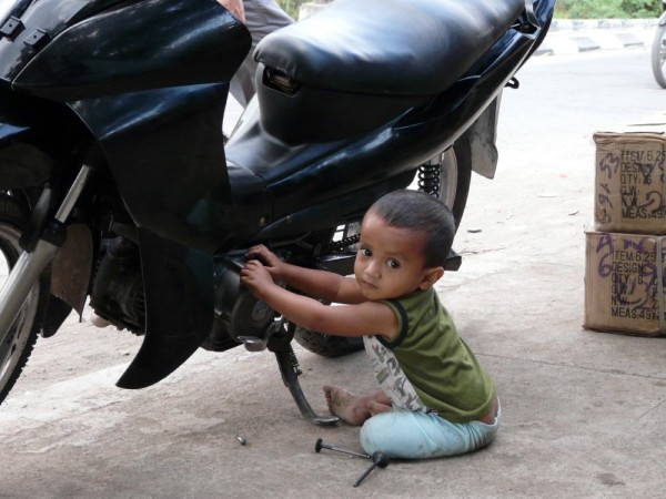 Starting young.  Scooter repairman is number 1 job op!