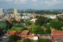 From the needle, Melaka has lots of green space, and is also a contemporary city with high (low for asian standards) rises.