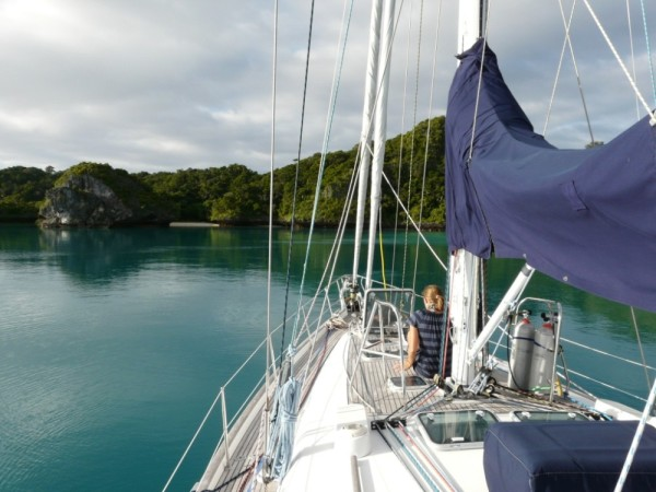 Looking for anchorage, Bay of Islands, Vanua Balavu
