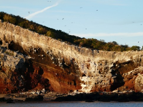gorgeous cliffs surround the anchorage
