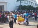 The start of the parade was led by Educacion Especial!