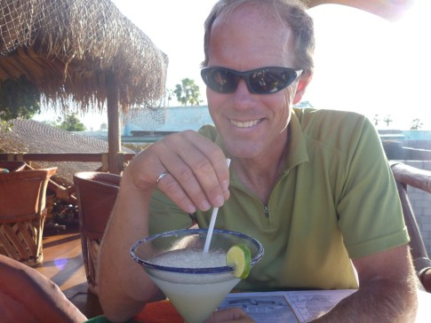 Enjoying a margarita at Rancho Viajo!