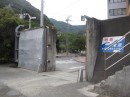 The town is protected by a tsunami wall.