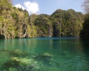 Kayangan lake on Coron Is. This is a brackish lake with crystal clear water.