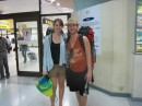 Sabine and Josh arrive at Phuket Intl.