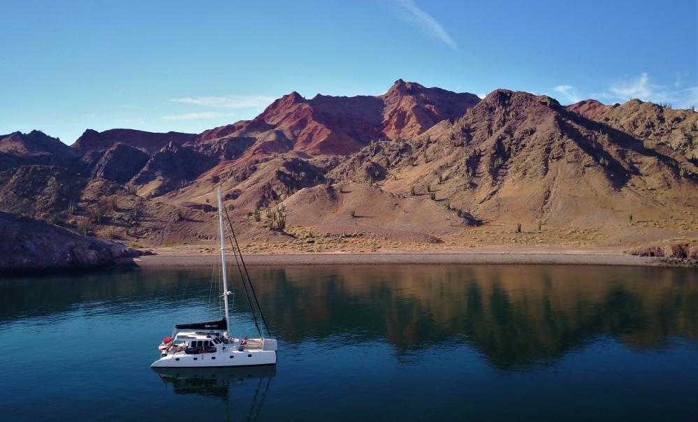 Puerto Refugio, Isla Angel de la Guardia: We sailed directly here from Puerto Penasco. During the next 3 weeks we sailed all around the Northern Sea of Cortez and only encountered one other sailboat.