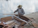 Custom transom cap being laminated. When it