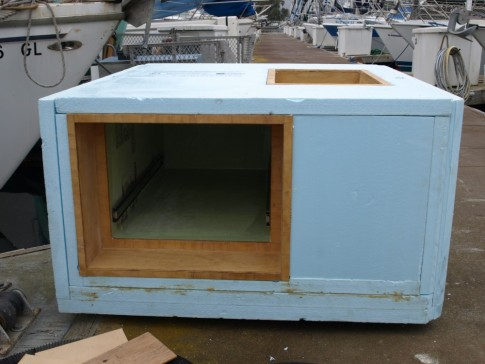 "Front view showing refrigerator ""drawer""."