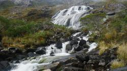 Waterfall near Caleta Brecknock